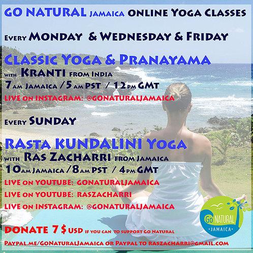 1 online yoga class