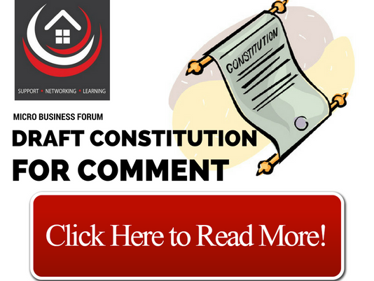 MICRO BUSINESS FORUM DRAFT CONSTITUTION (for your consideration and comment)