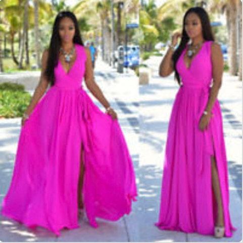 Boho Pink Maxi