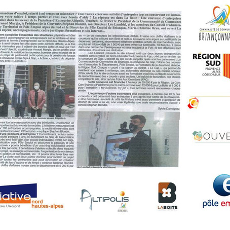 Inauguration de la Couveuse La Boite dans ses bureaux à Altipolis