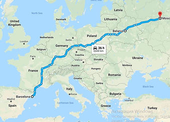 Cargo transportation from Spain to Belarus Russia
