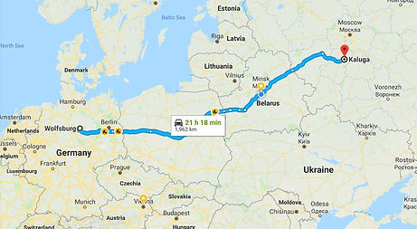 transportation from germany to russia and belarus and from russia to germany