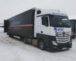Cargo transportatiom MEGA trailer from BY Belarus RUS Russia to ES Spain