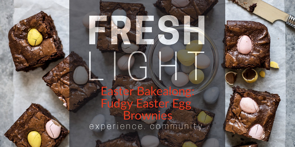 Easter Bakealong: Fudgy Easter Egg brownies