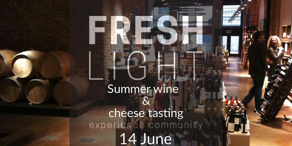 Summer Wine & Cheese tasting