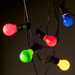 Lighting Festoon Coloured 20m lengths $55