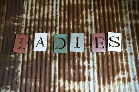 Sign Stencil Ladies $9.90