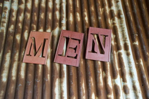 Sign Stencil Men $9