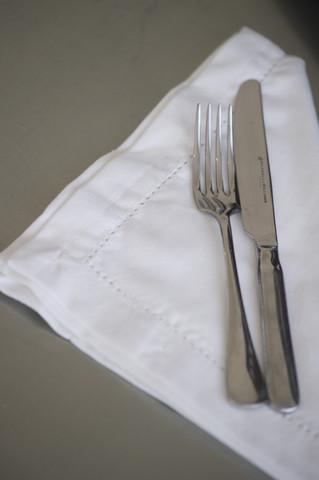 Napkin white hemstitch $1.65