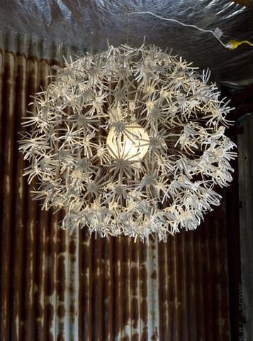 Light Floral Pendant $55