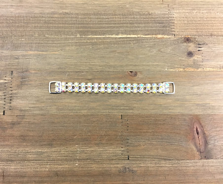 """6.5"""" 2-Row ss29 Silver and Crystal AB"""