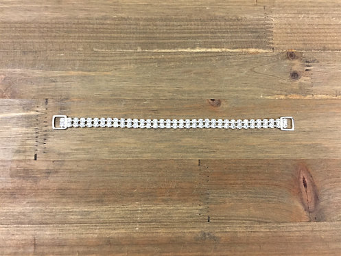 """9"""" 2-Row ss18 Silver and Crystal"""