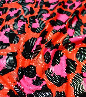 Leopard Orange Hot Pink Silver Foil