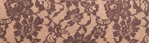 Floral Lace Print Chocolate Beige