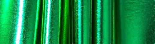 Liquid Metallic Spandex Black Kelly Green