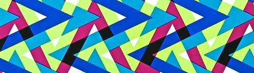 Abstract Chevron Print Multi