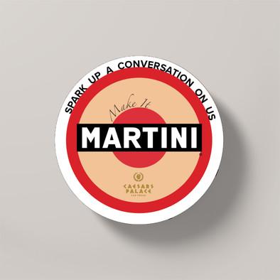 Martini and Caesar's Palance Coaster Partnership