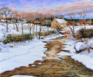 """""""McDougal's Mill in Winter"""""""