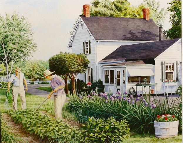 """Freiday's in their Garden"""