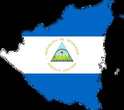 Nicaragua-Map-Flag