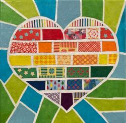 heart-shaped rainbow flag