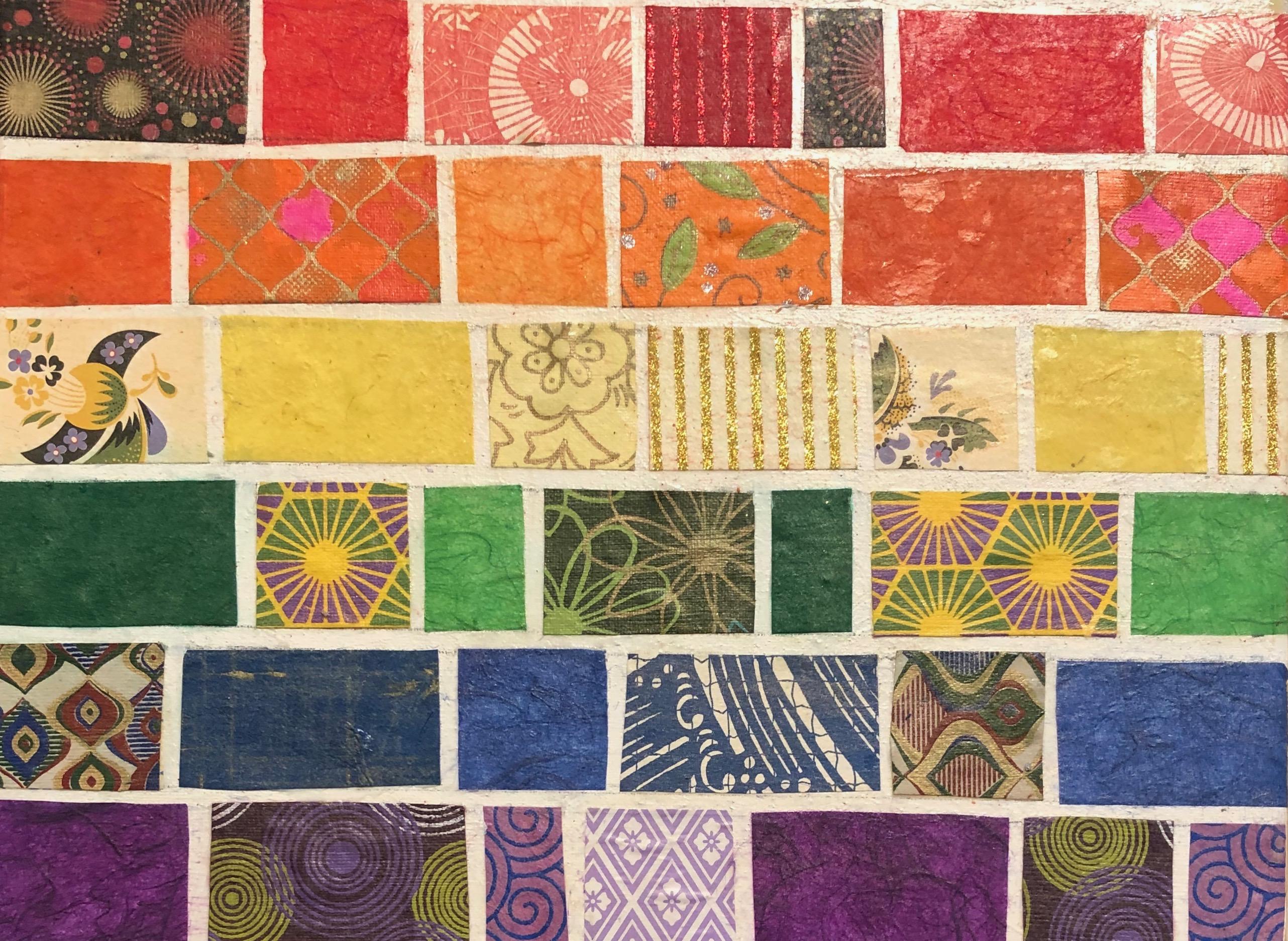 rainbow flag, mosaic-style