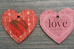 Reversable Valentine Heart Pendant