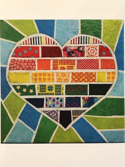 note card: rainbow heart