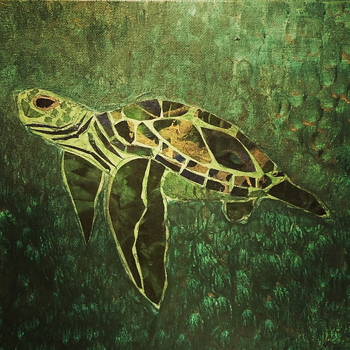 painting: bayou turtle