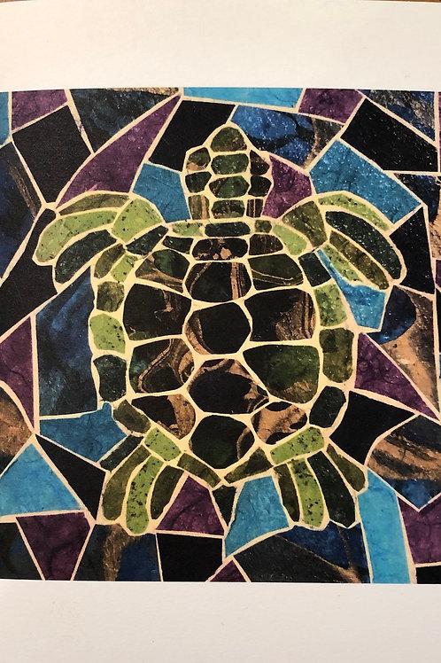 notecard: sea turtle in water