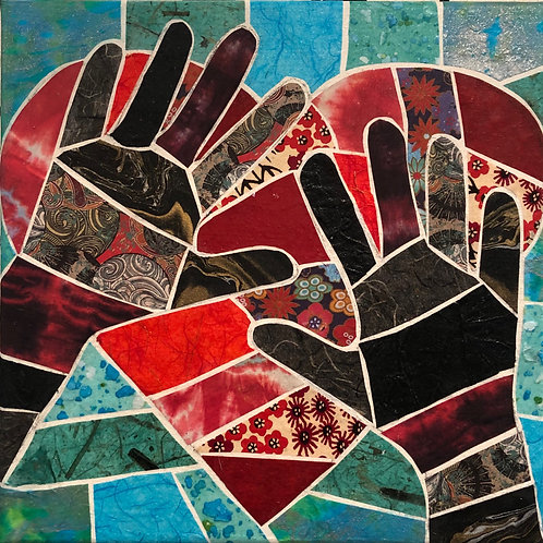 painting: healing hands, strong heart
