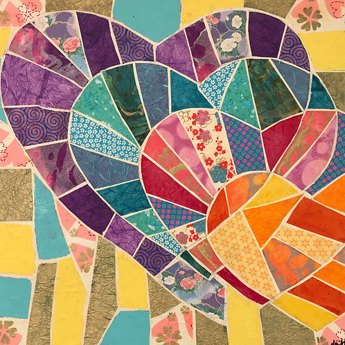 painting: cascading hearts