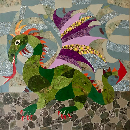 painting: purple-winged dragon