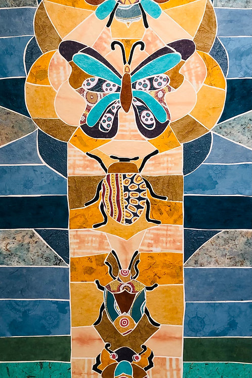 painting: insect totem