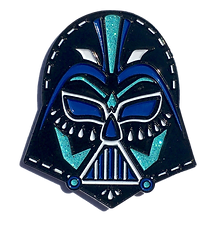 Darth Vader from Star Wars as a laten Day of the Dead Lucha Libre enamel pin