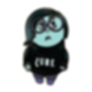 Sadness ename pin is a take on Pixar Inside Out and a goth emo girl who listens to The Cure