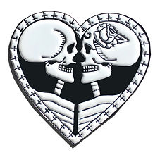 This enamel pin show eternal love with the sytle of Day of the Dead  Día de los Muertos