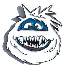 Bumble from Rudolph the red-nosed reindeer as a enael pin. Abominable snowman