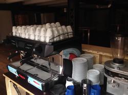 Kaffeebar führen Messeauftritt