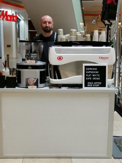 Mobile Kaffeebar mit Barista