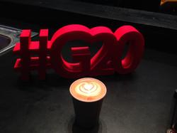 Kaffeebar auf dem G20 Gipfel