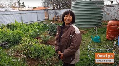 Helping Hands # 7 - Gardens of Tatura - Onwipa & Kelvin's permaculture veggie garden