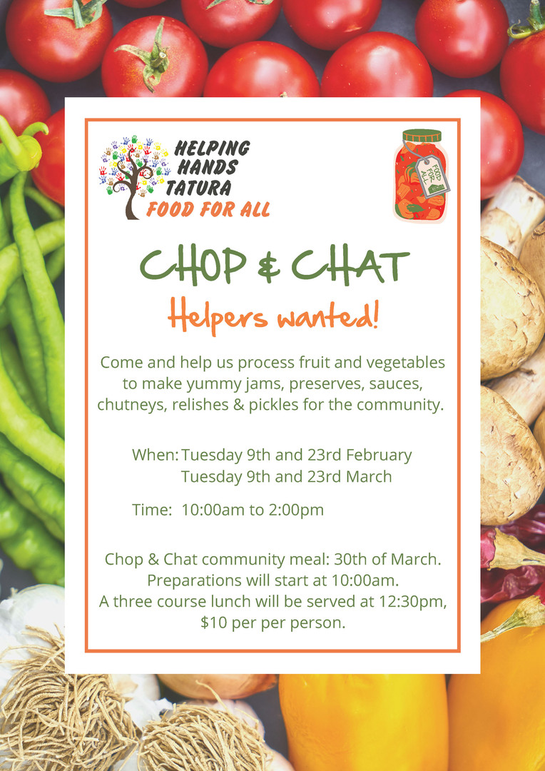 Helping hands - Food for all Chop & Chat
