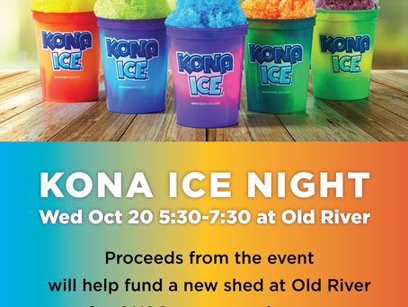 New shed fundraiser with Kona Ice!!!