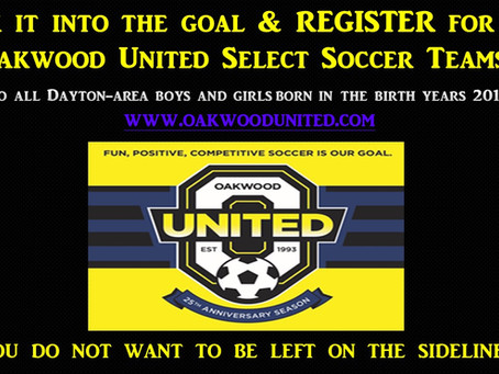 2021-2022 Select Soccer Tryout Registration is Now Open