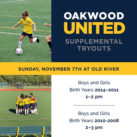Supplemental Tryouts for 2022 Spring Season