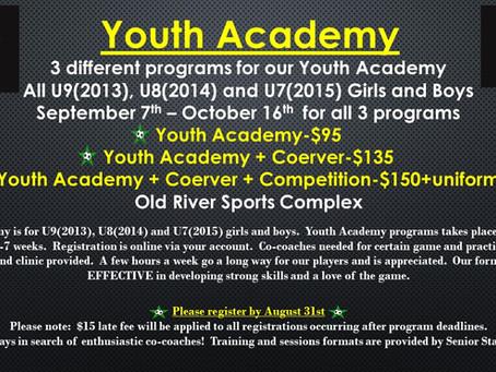 Fall Youth Academy programs
