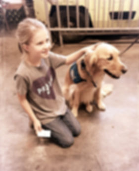 Libby with Jessy the Comfort Dog at the