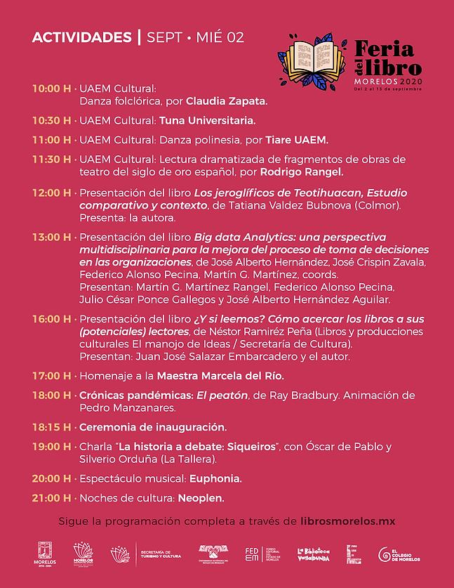 programa Feria Libro Morelos 2020__Artbo