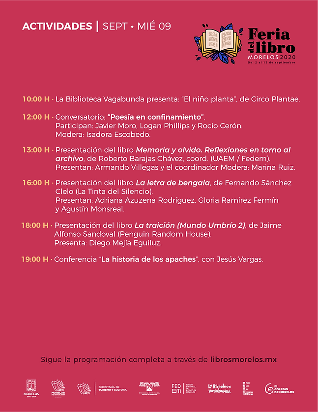 programa Feria Libro Morelos 2020_-09_07